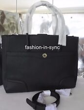 OROTON Melanie Work Tote Satchel Black Leather Across Body Hand Bag RRP $695