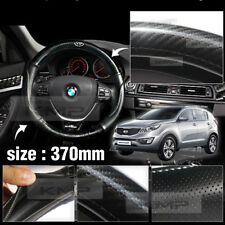 Carbon Steering Wheel Cover Glossy Urethan 370mm for KIA 2014 - 2016 Sportage R