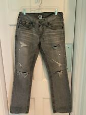 TRUE RELIGION Men's Ricky Big T Boot cut jeans 30 x 34