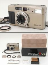 EXC++++ in BOX Contax TVS 35mm Point & Shoot Film Camera, Hood Etc fromJapan#q28