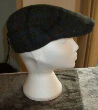 "Men's Failsworth Harris Tweed Flat Cap Blue Check Size 7 1/4"" (59cm)"