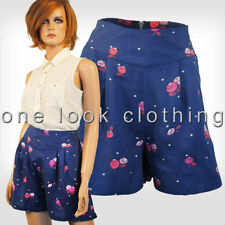 Floral Cotton Blend High Rise Shorts for Women