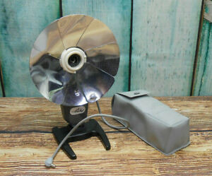 Vintage 1960s Ticky Folding Flash Unit Cold Shoe with PC Sync Cable + Case