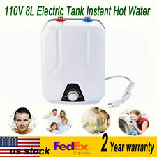 8L Electric Hot Water Heater 1500W/110V 60HZ 55℃-75℃ Adjustable Scope US Stock