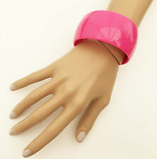 Gorgeous 4 cms Wide and Chunky FUCHSIA PINK Bangle Bracelet
