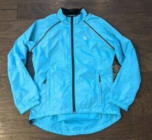 Canari Women Turquoise Flash Transition Cycling Jacket Vest Removable Sleeves L
