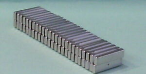 50 Neodymium Magnets 25mm long X 5mm wide X 3mm thick N52