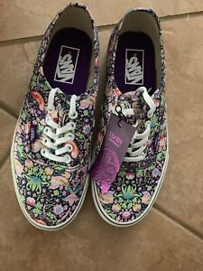 VANS X LIBERTY Arts Fabric Birds Navy Authentic sneakers Shoes M 6.5 W 8 NEW