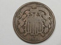 1868 US Two Cent Piece Coin. 2¢.  #18