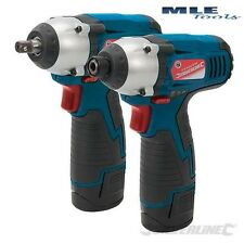 Silverline Silverstorm 10.8V Twin Pack Impatto Chiave Inglese & IMPACT DRIVER 459654
