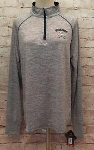 NEW Virginia Cavaliers Colosseum Gray Heathered 1/4 Zip Pullover Women's XL