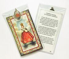 INFANT CHILD OF PRAGUE - PRAYER CARD & COLOUR MEDAL