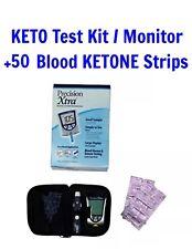 Precision Xtra KETO TESTING KIT Meter Blood Glucose Monitoring +50 KETONE STRIPS