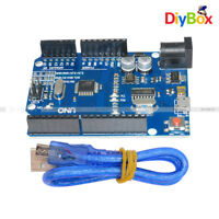 Newest Version UNO R3 ATMEGA328P-16AU CH340G+Micro USB Cable Kit For Arduino DIY