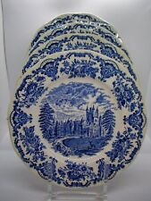 Enoch Wedgwood Dinner Plates Royal Homes of Britain Blue Set of 4