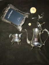 More details for silver plated items ,teapot ,cream jug,mustard pot and others