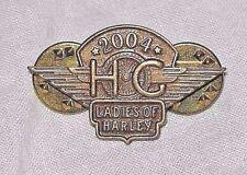 2004 Ladies Of Harley Davidson Hog Pin Pinback Lapel Pinbacks Vest Motorcycle