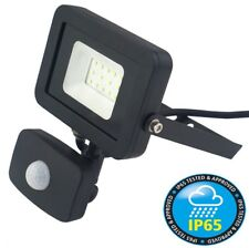 Slim very powerful Floodlight  PIR, IP 65 rated,  garden, Black, 10 watt