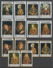 Aden Protectorate States Art Paintings issue Perf and Imperf.  MNH