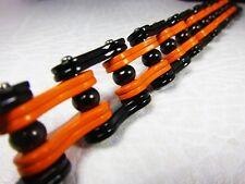 Fire Wheel Orange & Black Bike Chain Bracelet for Harley Rock Flame Biker Tb158