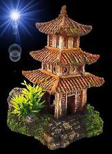 Aquarium Deko 🍀 PAGODEN HAUS 🍀 Asien China Terrarium Dekoration Zubehör Tempel