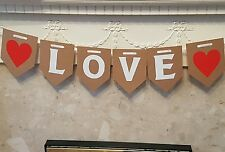 Love Bunting Banner. Celebrations Hanging Garland Wedding Decorations Engagement