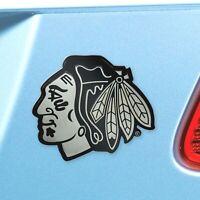Chicago Blackhawks Heavy Duty Metal 3-D Chrome Auto Emblem