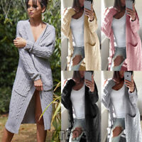 New Women Sweater Long Sleeve Cardigan Knitwear Jumper Outwear Coat Jacket