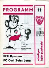 Programmheft, BFC Dynamo - FC Carl Zeiss Jena, Oberliga-Heimpunktspiel 1987 /32