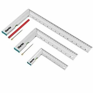 Clarke CHT724 3 Piece Try Square Set with Spirit levels 150mm, 250mm & 400mm
