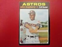 1971 Topps JOHN MAYBERRY Houston Astros Signed Card #148 Autograph Auto