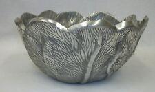Vintage Cast Aluminum Large Leaf Design Bowl