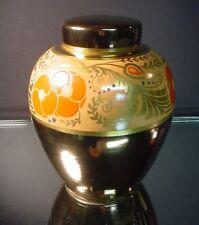 "American Satsuma Hand Painted Art Deco 7 1/2"" Ht. Luster Ginger Jar C 1920's"