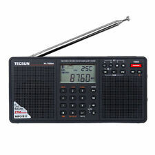 TECSUN PL-398MP Alarm Clock Radio FM Stereo SW MW LW  Band MP3 Player Black