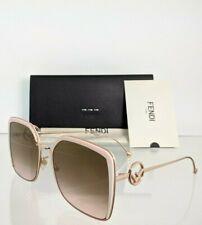 35J53 Rose Gold 58mm Frame 0294 Brand New Authentic Fendi Ff 0294/S Sunglasses