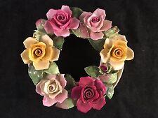 """Adderley Floral Bone China Decorative Flower Arrangement Figurine 6"""" Diameter"""