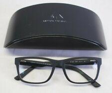 Armani Exchange AX3016 8078 Eyeglasses Frames 53/17/145 w/ Case - Black