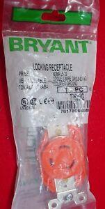 BRYANT 20 Amp 125 Volt ORANGE LOCKING RECEPTACLE NEMA L5-20