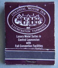 Colonial Motor Inn Launceston Tasmania 316588 Quill and Cane Matchbook (MK1)