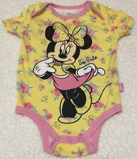 Used Baby Girls Disney Baby Minnie Mouse Bodysuit Size 3-6 Months