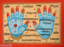 Hand Print of Vishnu Hath Hand Tantrik Tantric Painting Indian Hindu Antique Art
