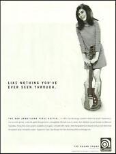 Dan Armstrong Plexi Acrylic Plexiglass guitar ad 8 x 11 Ampeg advertisement