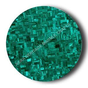 Green Marble Coffee Dining Table Top Malachite Inlay Random Stone Decor E1341