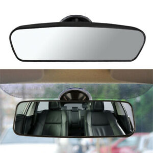 Car Wide Flat Interior Adjustable Rear View Mirror with Suction Cup Universal