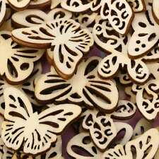 50pcs Mixed DIY Hollow Wooden Butterflies Cutouts Craft Embellishments Ornament