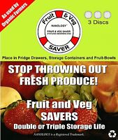 Fruit and Veg Savers 3 Disc Pack Prolong The Life Of Fruit & Vegetables NEW