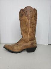 Womens Justin 6.5 B Stampede Puma Tan Leather J Toe Western Cowgirl Boots L2561