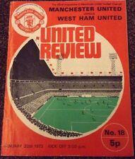 Manchester United V West Ham United 1972/73