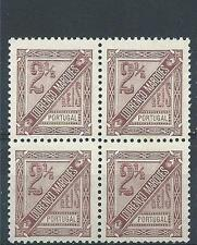 Lourenco Marques 1893 Sc# P1 numeral Portuguese colony block 4 MNH