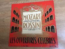 LP Mozart Rossini Les ouvertures célèbres Hans Burg *